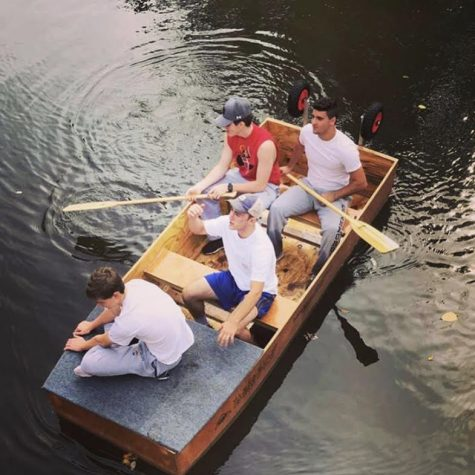 The four guys in the boat on Saturday morning.