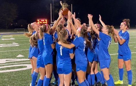 Cranford Girls Varsity Soccer Team Takes Home the Championship Trophy